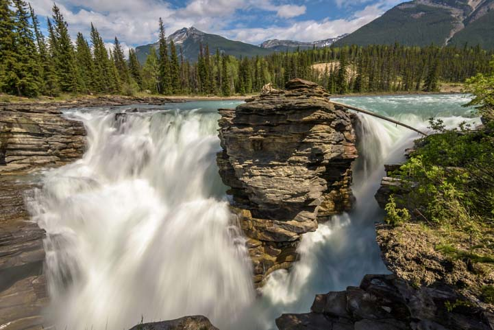Waterfall Athabasca Falls Jasper National Park Alberta Canada Rocky Mountains