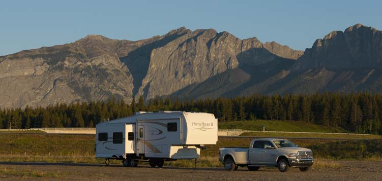 RV travel Kananaskis Country Canada Rocky Mountains