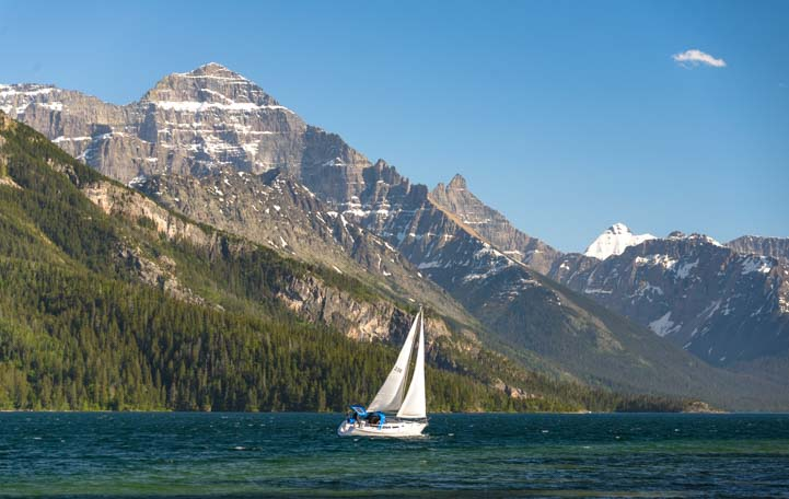 Sailboat Waterton Lakes National Park Alberta Canada
