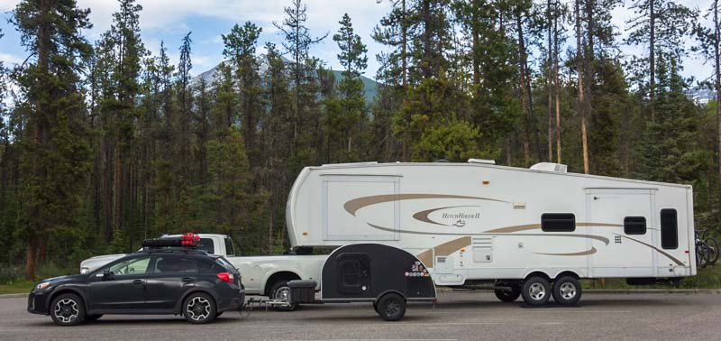 Big and little RV trailer