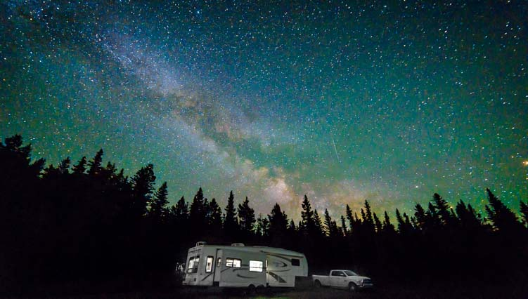 RV Roads Less Traveled Milky Way Waterton Lakes National Park Canada
