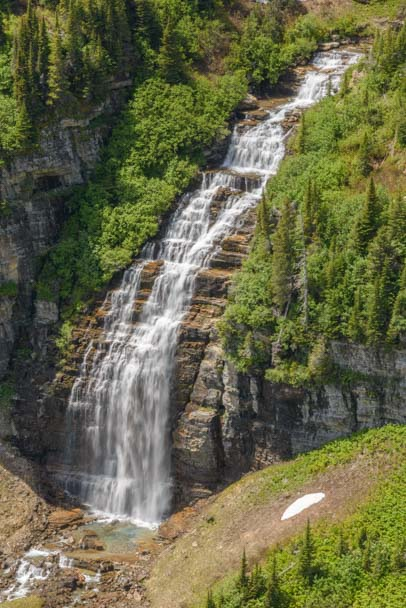 Waterfall Glacier National Park Montana
