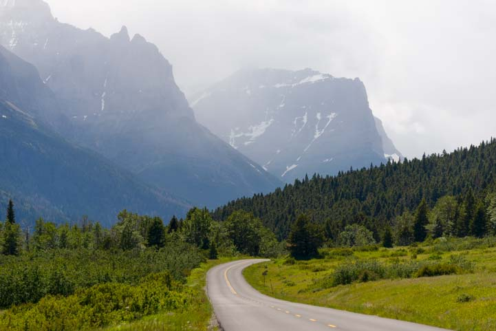 Going to the Sun Road Saint Mary Glacier National Park Montana