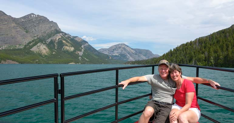 Bow selfie Waterton Shoreline Cruise Waterton Lakes National Park Canada