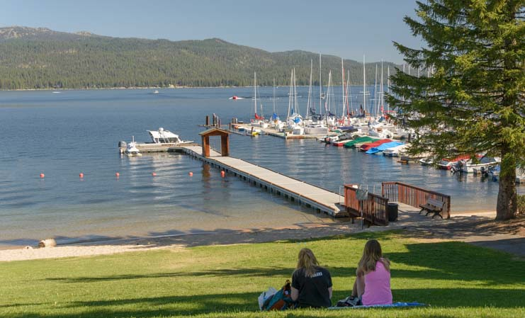 Payette Lake shore near Legacy Park McCall Idaho