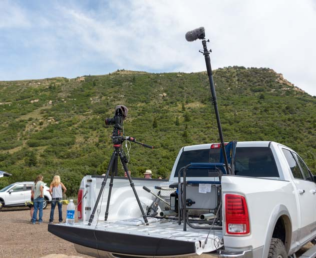 Video equipment to film rehabilitated eagle release by Southwest Wildlife Foundation in Cedar City Utah