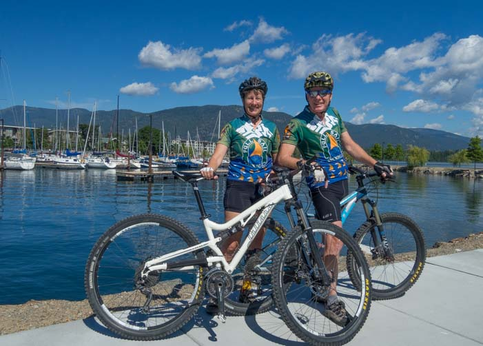 Riding the bicycle path in Sandpoint Idaho