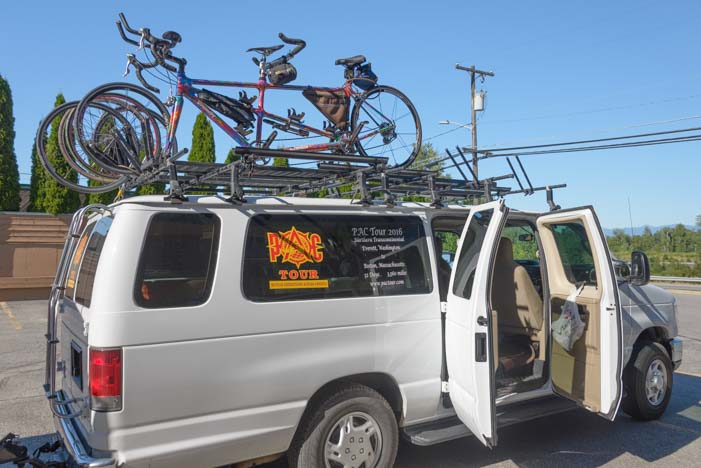 Pac Tour cross-country bicycle tour in Sandpoint Idaho