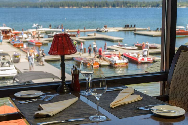 Waterfront dining Shore Lodge McCall Idaho