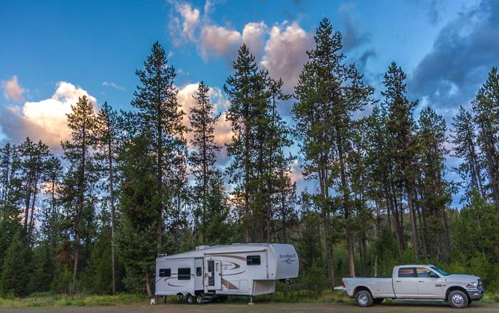 RV camping in McCall Idaho