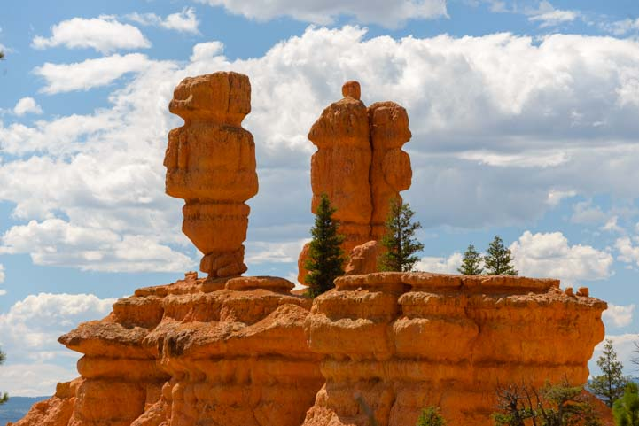 Closeup Hoodoos in Red Canyon Utah
