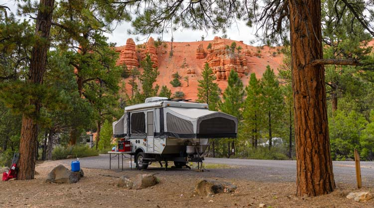 RV Camping in Red Canyon Campground Utah