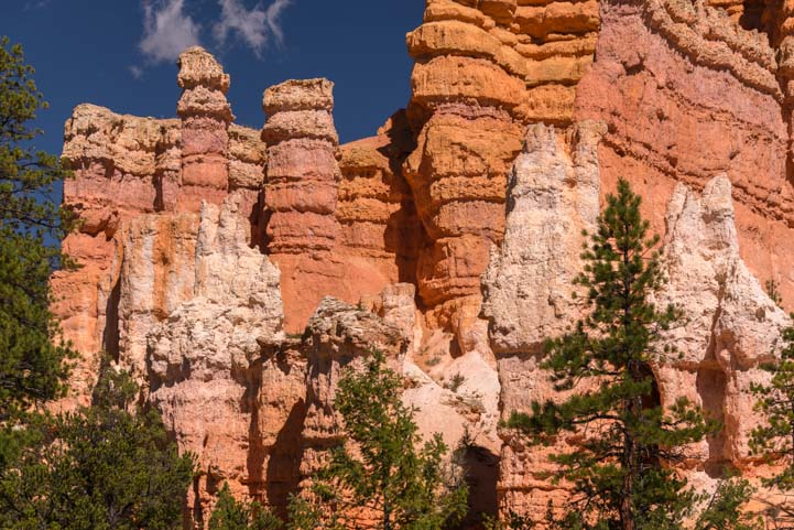 Colorful hoodoos Fairyland Trail Bryce Canyon National Park Utah