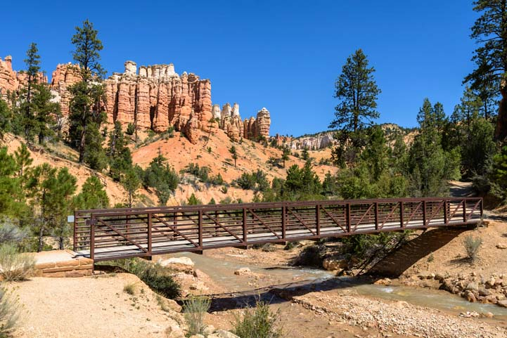 Bridge at Mossy Cave Trail Mossy Cave Trail Bryce Canyon National Park Utah