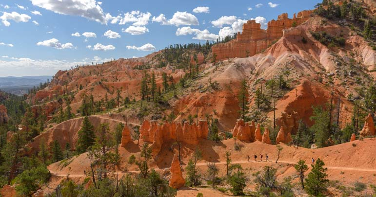 Fairyland Trail In Bryce Canyon National Park A