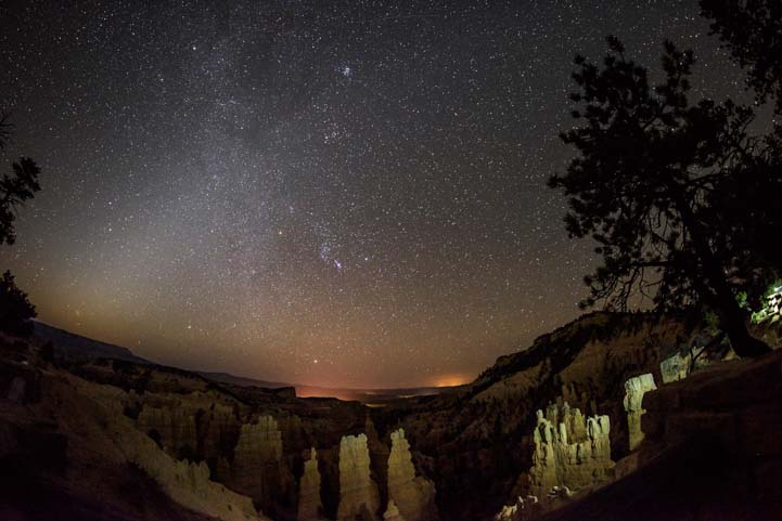 Stars at Fairyland Point Bryce Canyon National Park Night Sky