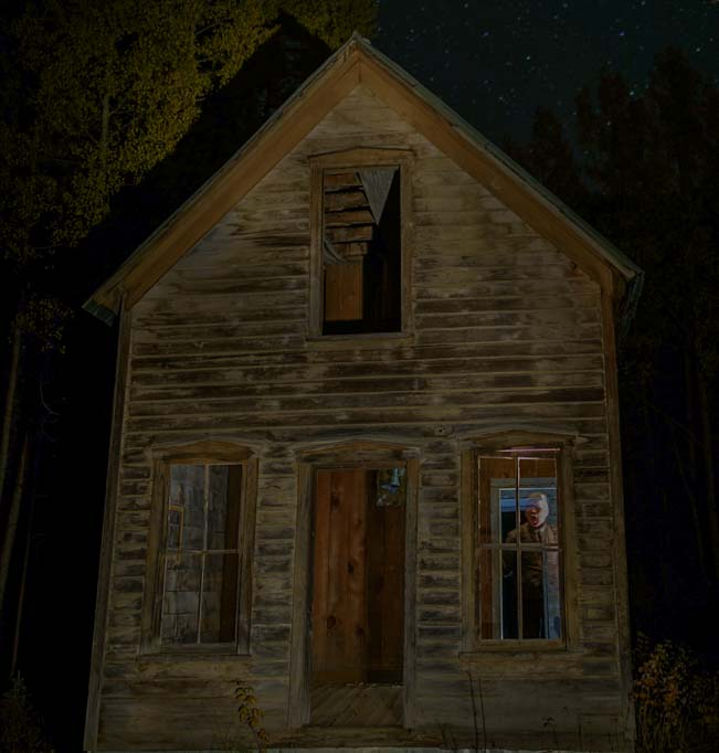 Ghostly image in a ghost town