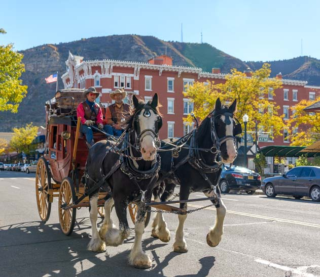 Horse and carriage Durango Colorado