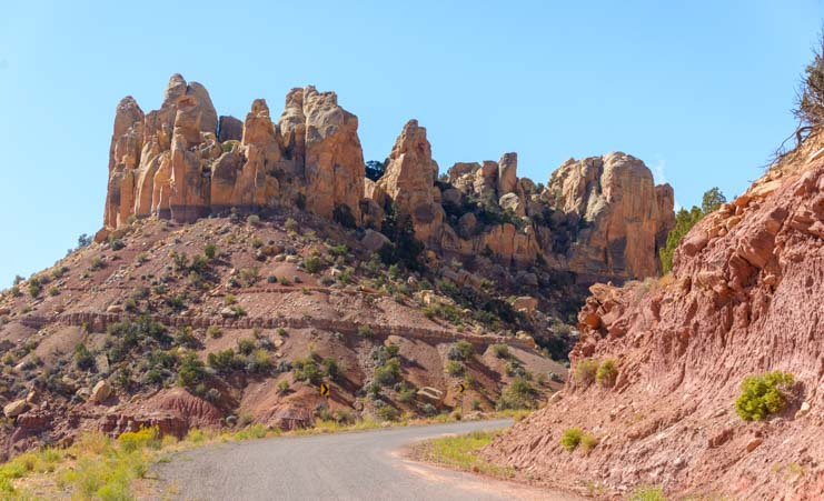 Rock formations Burr Trail Scenic Byway 12 Utah