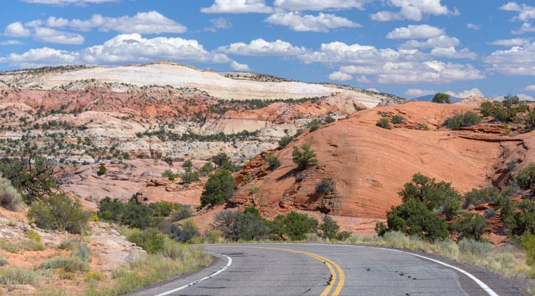 Red rocks RV trip Scenic Byway 12 Utah