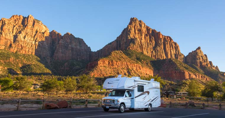 RV Camping on an RV trip to Zion National Park in Utah