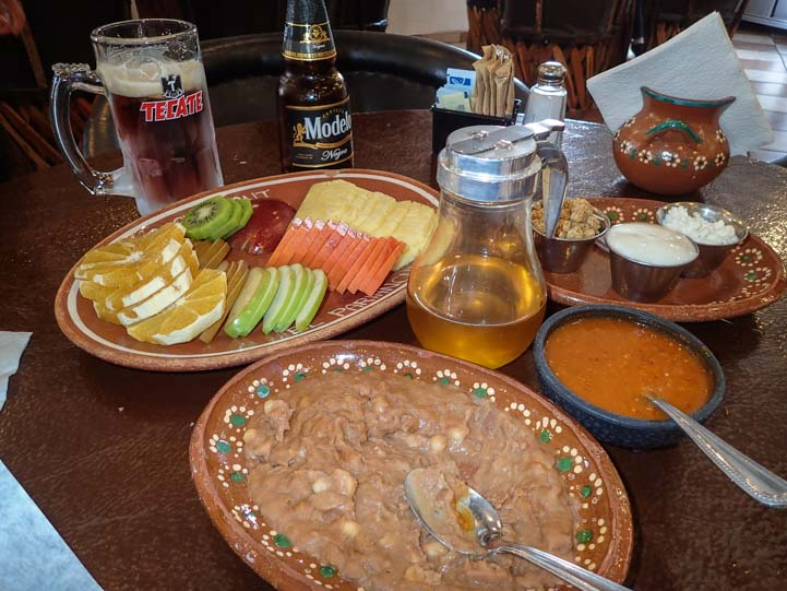 El Parianchi Meal San Luis Rio Colorado Mexico