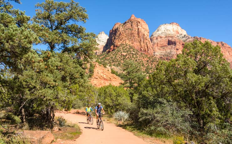 Bike Pa'rus Trail Zion National Park Utah