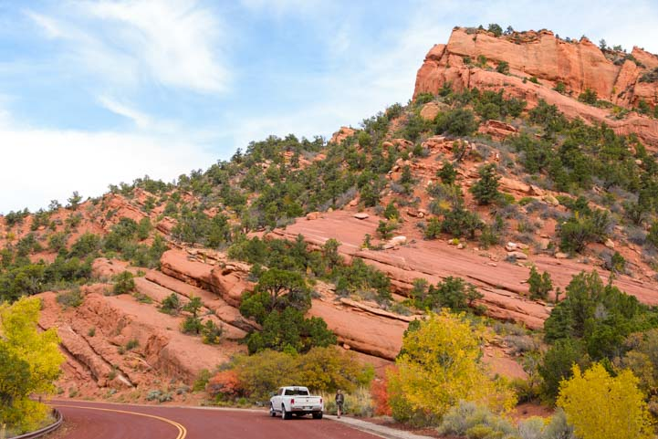 Scenic Drive Kolob Canyons Road Zion National Park Utah RV trip