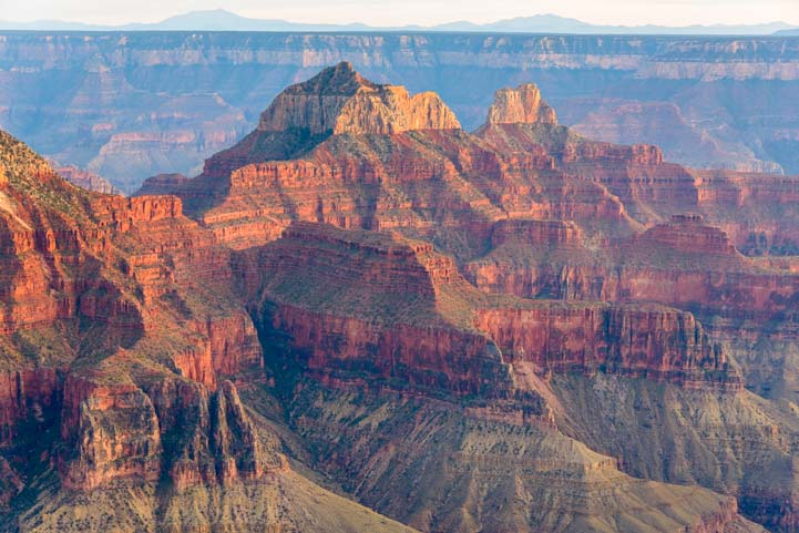 View of Red cliffs North Rim Grand Canyon Arizona