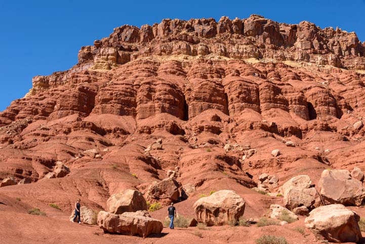 Red rock cliff at Cliff Dwellers Vermillion Cliffs Arizona