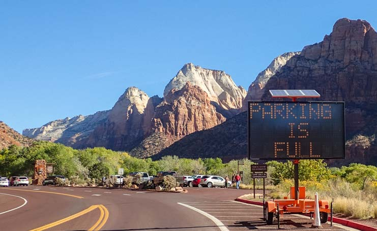 RV Parking Zion National Park Utah