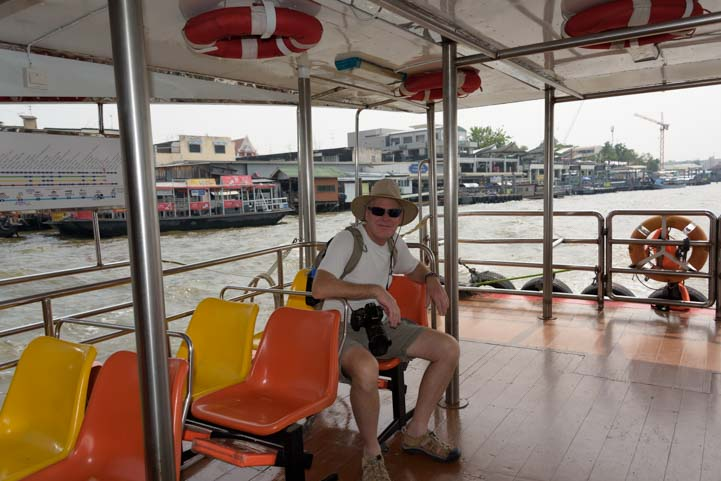 Lots of room on Chao Phraya Tourist Boat Bangkok Thailand
