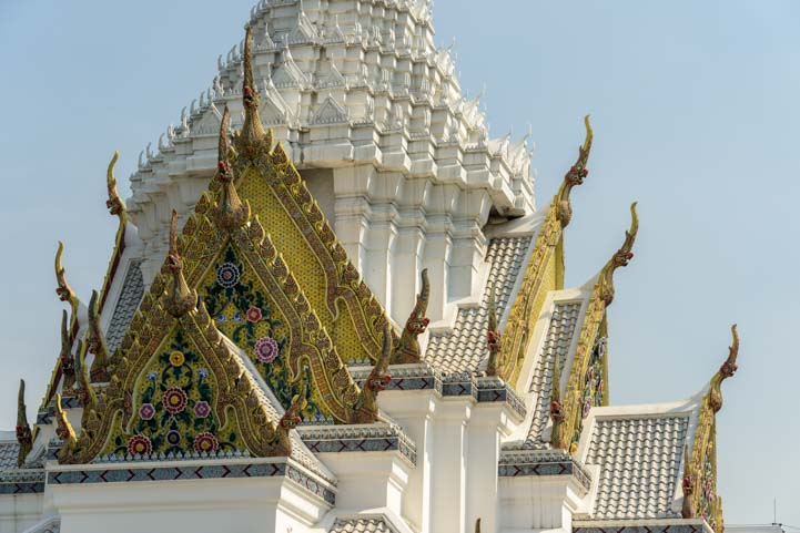 Ornate rooftop Grand Palace Bangkok Thailand