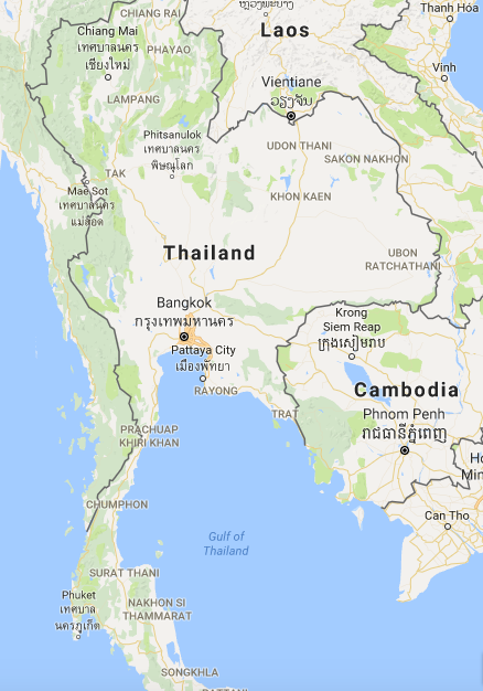 Thaland and Cambodia Map
