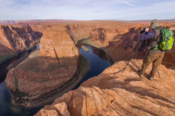 Photography at Horseshoe Bend Arizona