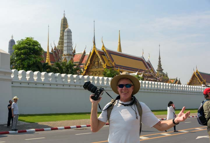Tourist at Grand Palace Bangkok Thailand