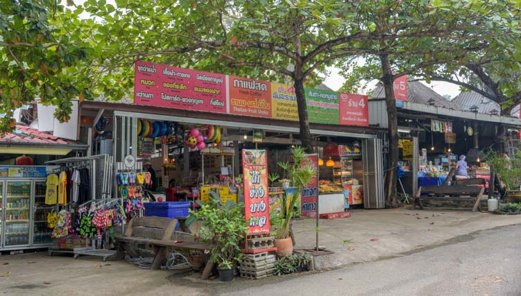 Restaurants at Erawan National Park Kanchanaburi Thailand