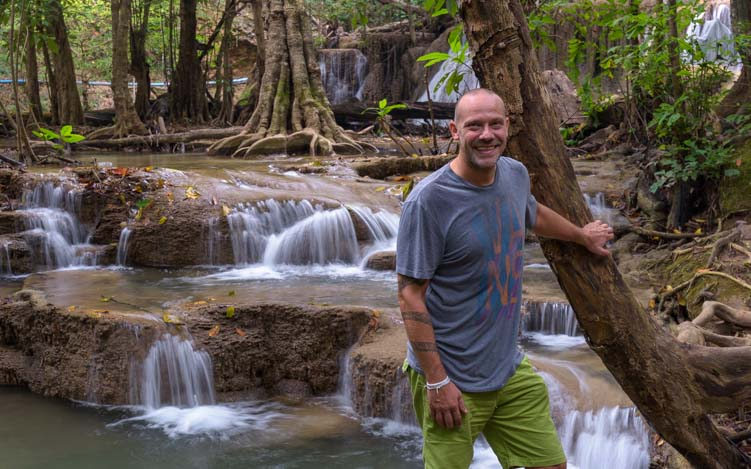 Steffen Mellow Adventures Tour to Huay Maekhamin Waterfall Khuean Srinagarindra National Park Kanchanaburi Thailand