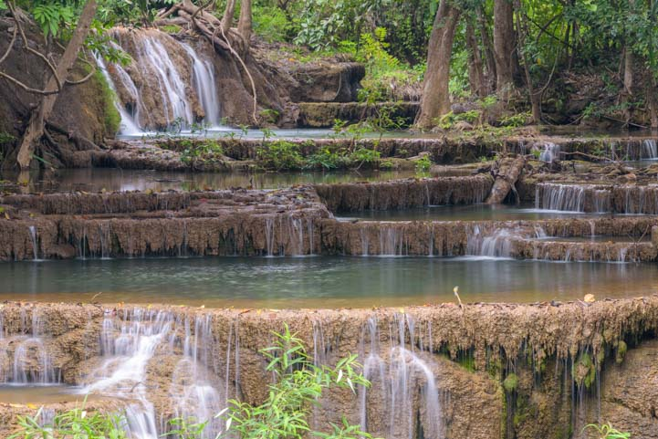 Best Waterfall in Thailand Huay Mae Khamin Waterfall Khuean Srinagarindra National Park Kanchanaburi Thailand