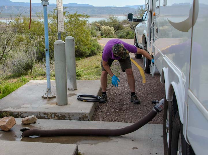 RV dump station tips for women RVers-2
