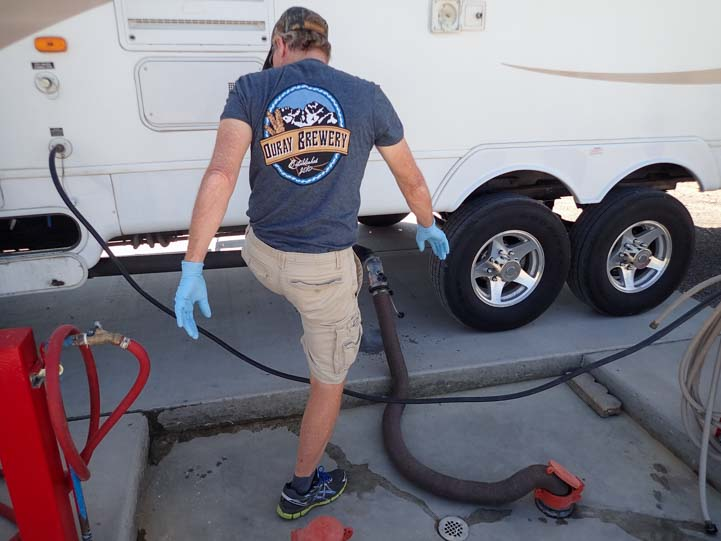 RV dump station tips for RVing women