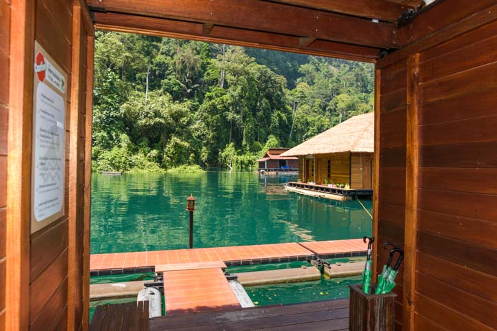 Hallway View Greenery Panvaree Floating Raft House Resort Cheow Lan Lake Chiewlarn Lake Khao Sok National Park Thailand