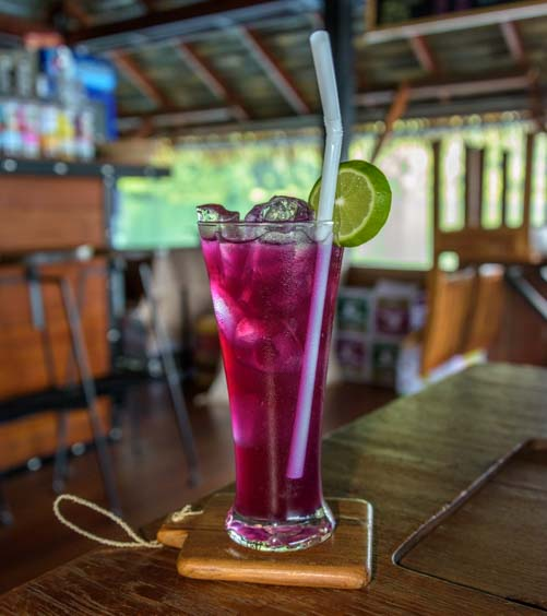 Blue Pea Lime Juice drink in Thailand