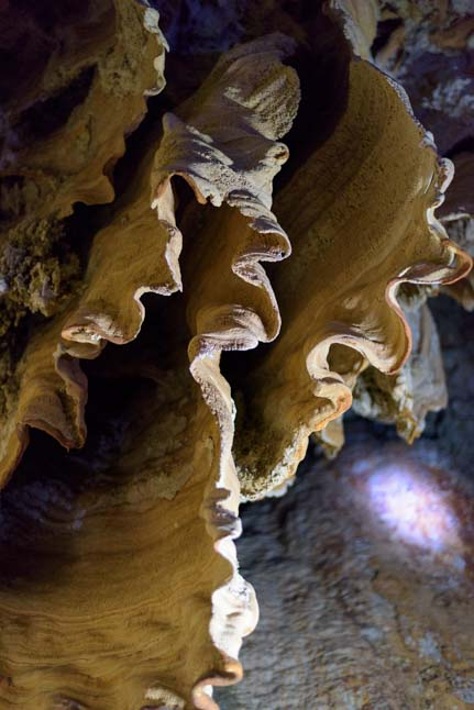 Coral cave (Pakarang Cave) formations Cheow Lan Lake Khao Sok National Park Greenery Panvaree Floating House tour