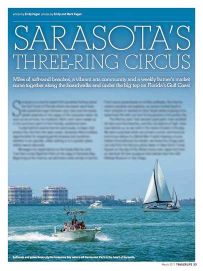 Sarasota's Three-Ring Circus Trailer Life Magazine