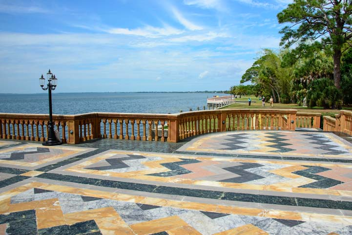 Tile deck at The Ringling mansion Sarasota Florida
