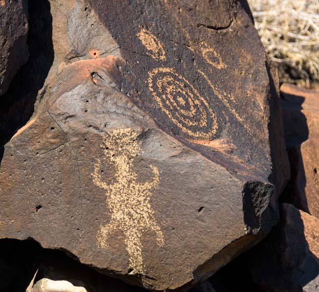Bullseye Painted Rock Petroglyphs Gila Bend Arizona