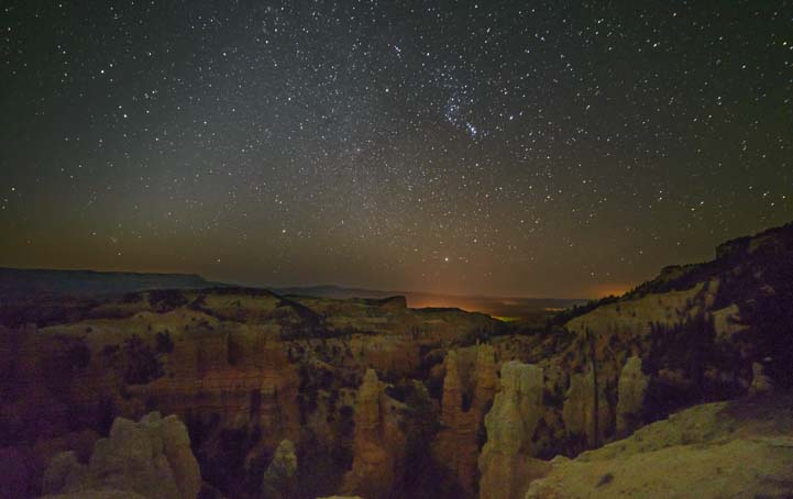 Stars over Fairytale Canyon Bryce Canyon National Park