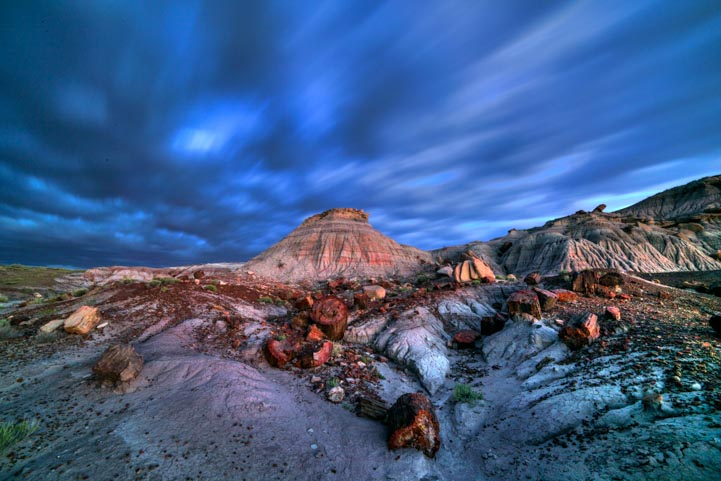 Dramatic clouds at Jasper Forest Petrified Forest National Park Arizona 2