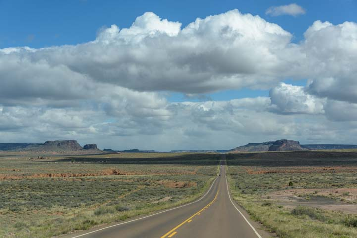 Route 77 in the Navajo Nation Arizona